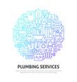plumbing circle concept vector image
