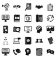 polemic icons set simple style vector image vector image