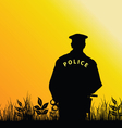 policeman in the nature vector image