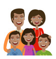 portrait happy cheerful family people vector image