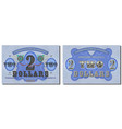 protective guilloche mesh fictional two us dollar vector image vector image
