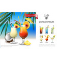 realistic beach party composition vector image