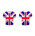 realistic sport t-shirt with great britain flag vector image