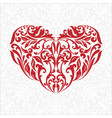 red heart with gray background vector image vector image