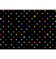 Retro Colorful Dots Black Background vector image vector image