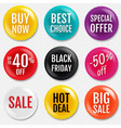 sale badge isolated in transparent background vector image vector image