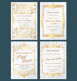 save the date luxury wedding invitation vector image