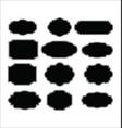 set blank retro vintage labels 2 vector image vector image