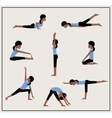 Set of asanas vector image vector image