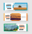 set of horizontal web banners with rectangle for vector image