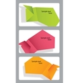 Set of speech bubbles incorporated in gift cards vector image vector image