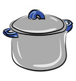 soup pot on white background vector image vector image