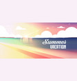 sunset beach view summer vacation seaside sea vector image vector image