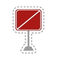 traffic prohibited square sign pole vector image vector image