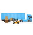truck semi trailer concept 03 vector image vector image
