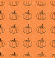 white and black pumpkin pattern contour vector image