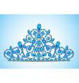 womens gold diadem tiara vector image vector image