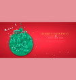 year paper cut bauble winter city vector image