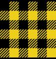 yellow and black lumberjack seamless pattern vector image vector image