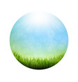 abstract natural background ball poster vector image vector image