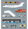 Airport set with baggage cart vector image vector image