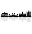 amsterdam skyline on white background vector image vector image
