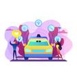 autonomous driving concept vector image vector image