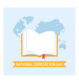 book school education in flat design vector image vector image