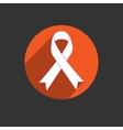 Breast cancer awareness red ribbon on white vector image vector image