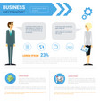 business infographics set copy space vector image vector image