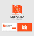 business logo template for direction explore map vector image