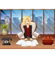 Businesswoman vector image vector image