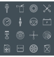 Car parts icons outline vector image