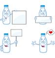 Cartoon milk bottles vector image vector image