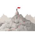 cartoon route challenge concept landscape vector image vector image