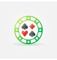 Casino green chip icon vector image vector image