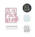 Coffee machine line icon Barista equipment vector image