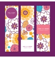 colorful oriental flowers vertical banners vector image vector image