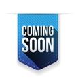 coming soon blue ribbon vector image vector image