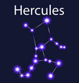 constellation hercules with stars in the night vector image vector image