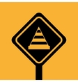 construction building cone attention icon vector image