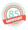 Cute Template 85 Years Anniversary with Balloons vector image vector image