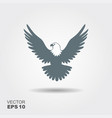 eagle flat icon vector image vector image