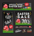 easter sale banner collection vector image vector image