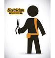 electrician design vector image vector image