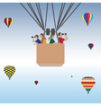 Family hot air balloon ride vector image vector image