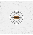 Fast food badges logos and labels for any use vector image vector image