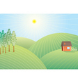 field nature vector image vector image
