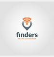 finders logo template vector image vector image