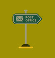 flat icon on background sign post office vector image vector image